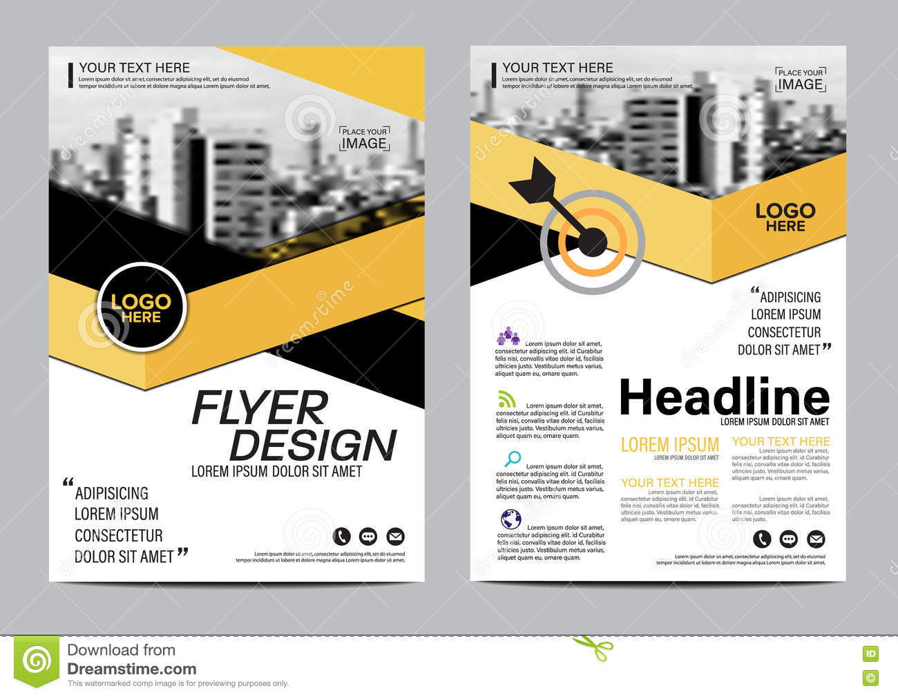 Brochure Layout Design Template Annual Report Flyer
