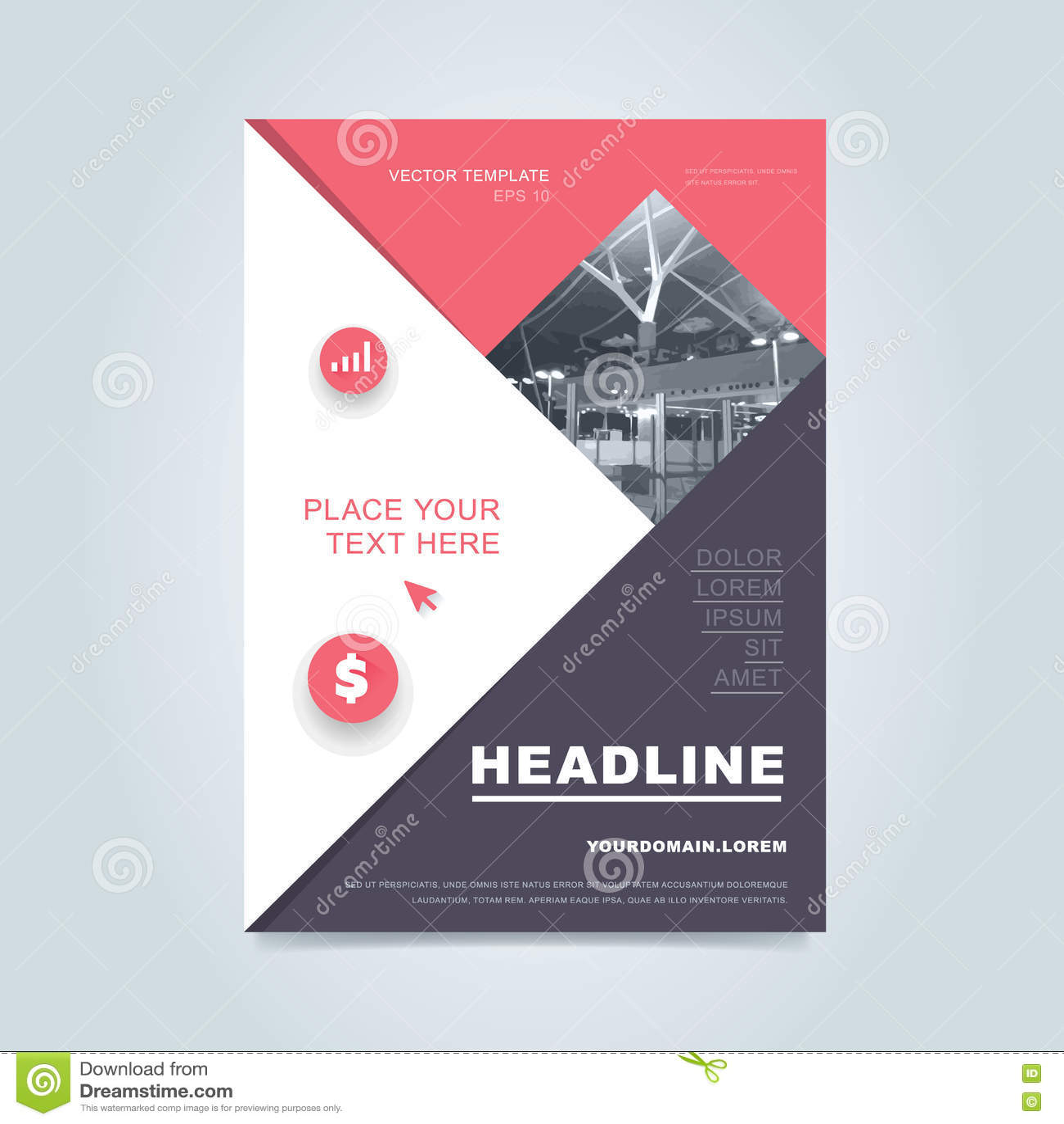 brochure layout design vector illustration stock vector