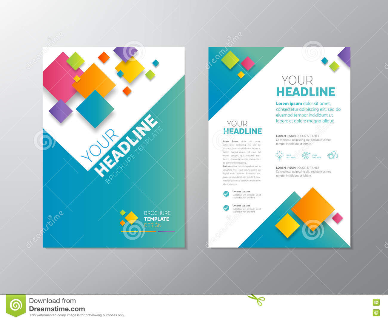 brochure - leaflet design stock vector