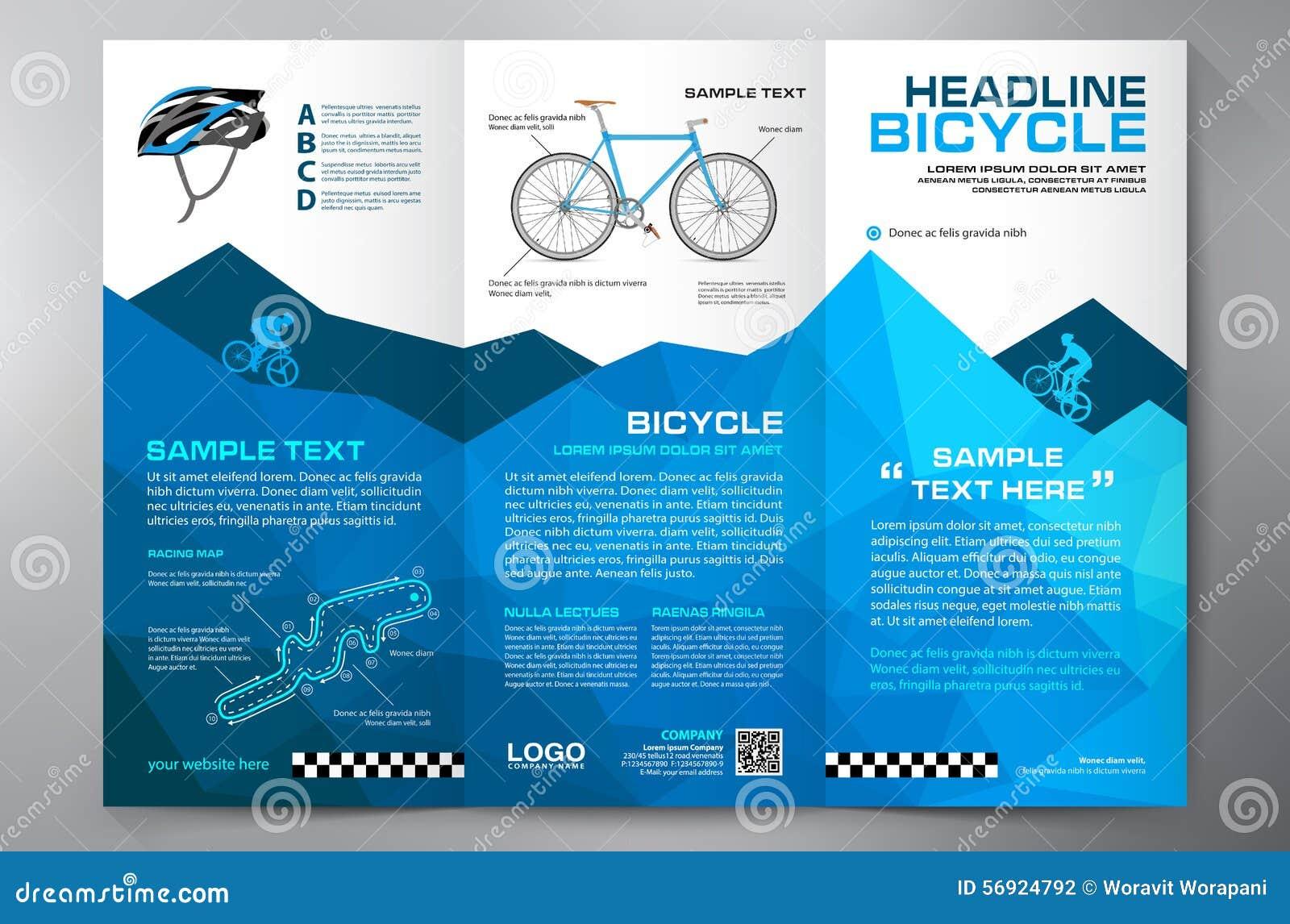 brochure leaflet design tri-fold template  stock vector