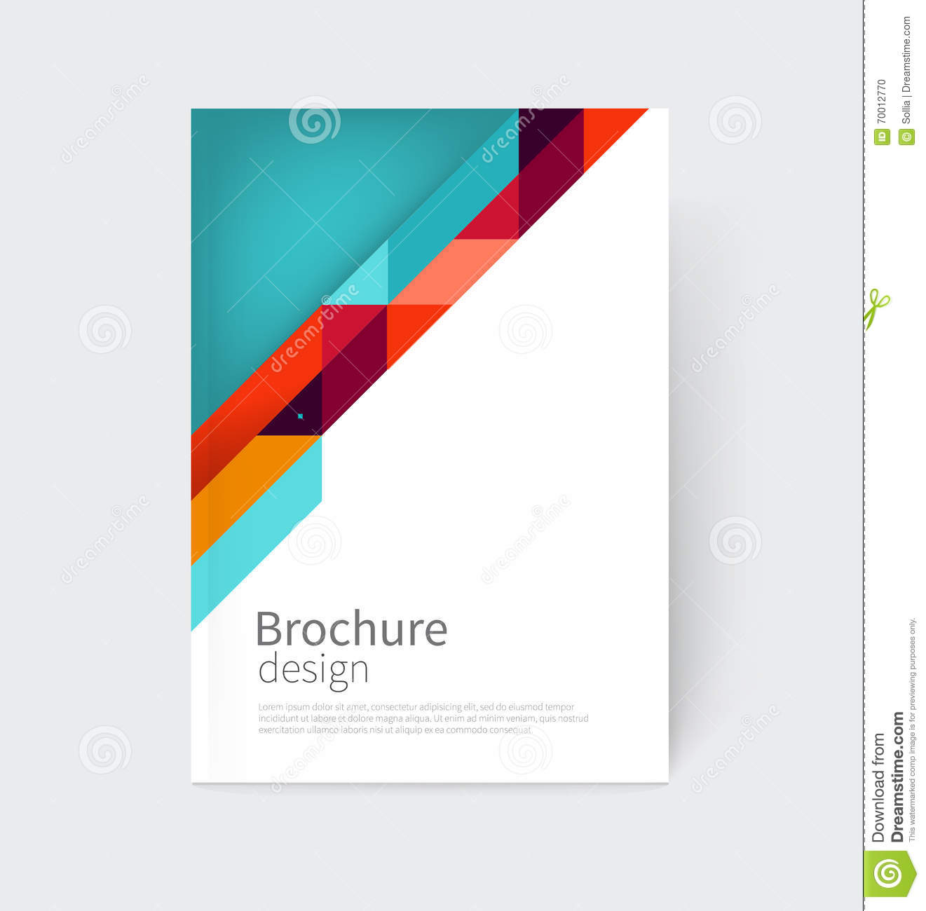 home design abstract triangle flyer design template stock photos