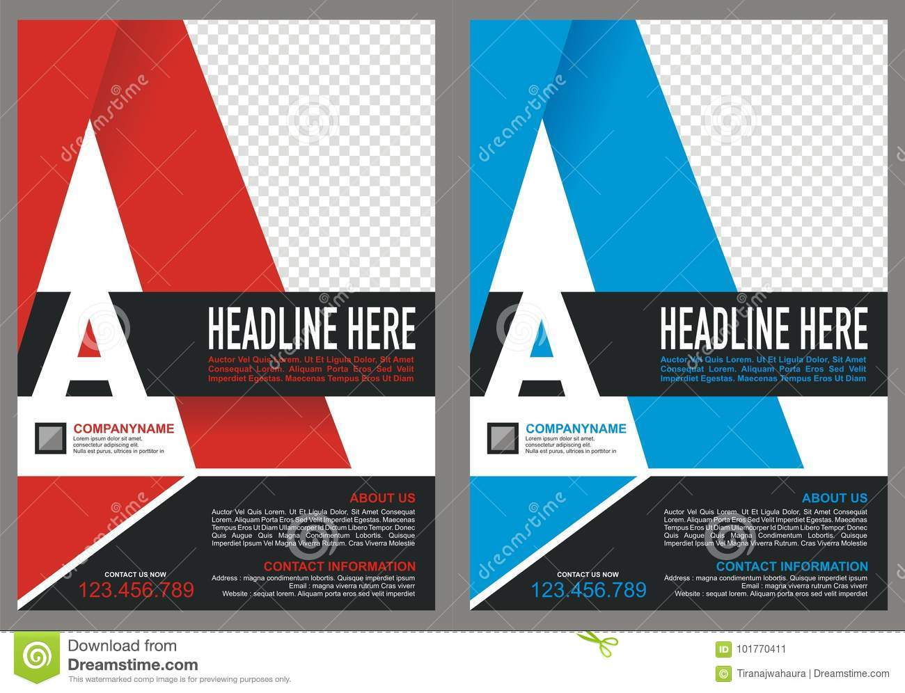 Brochure with letter `A` logo style cover