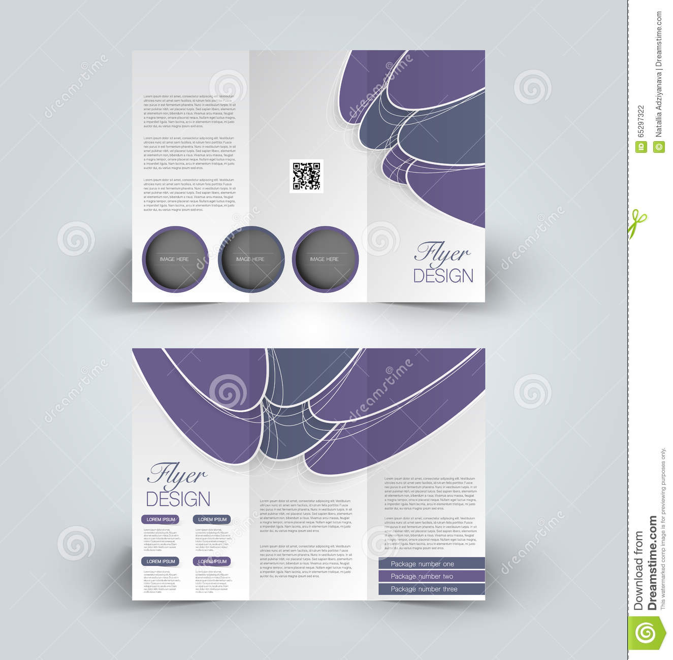 Brochure mock up design template for business education for Booklet brochure template