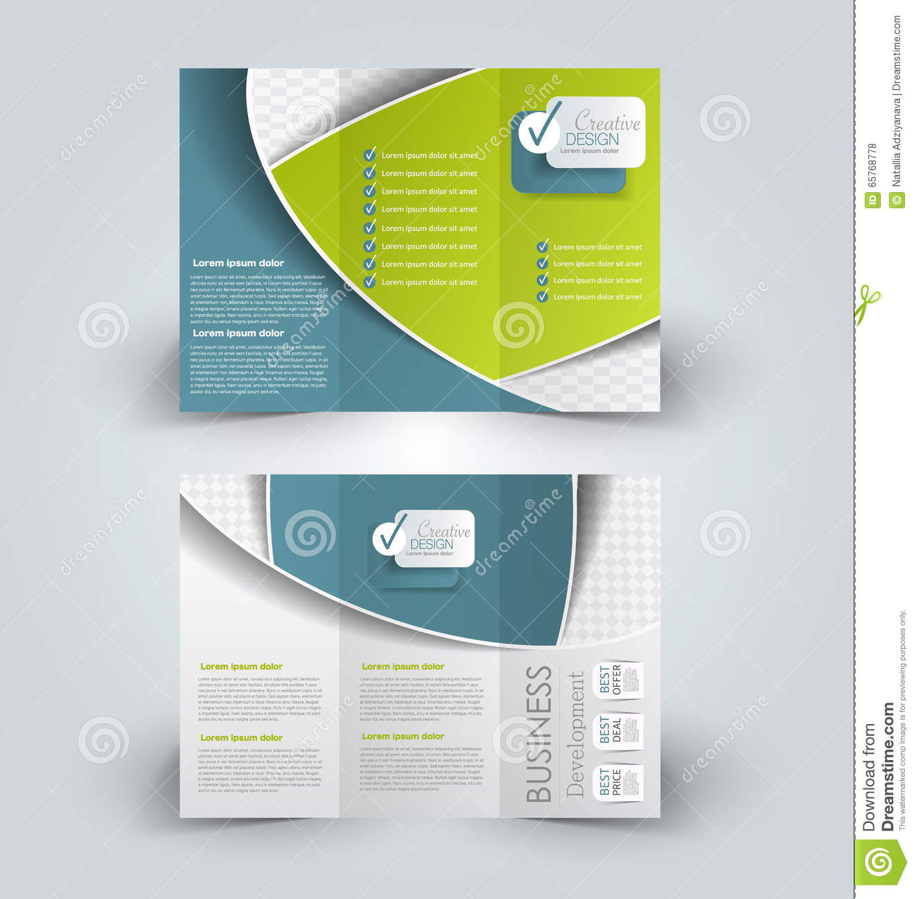 Brochure mock up design template stock vector image for Brochure insert template