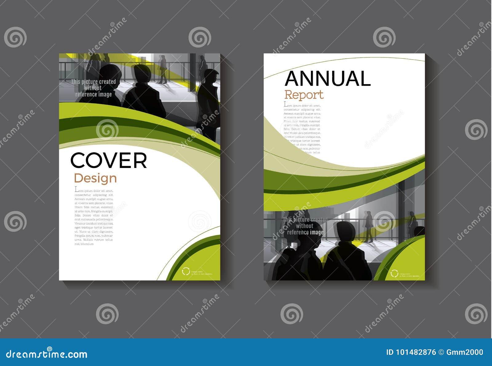 Brochure moderne d abrégé sur couverture de calibre de livre de conception verte de couverture