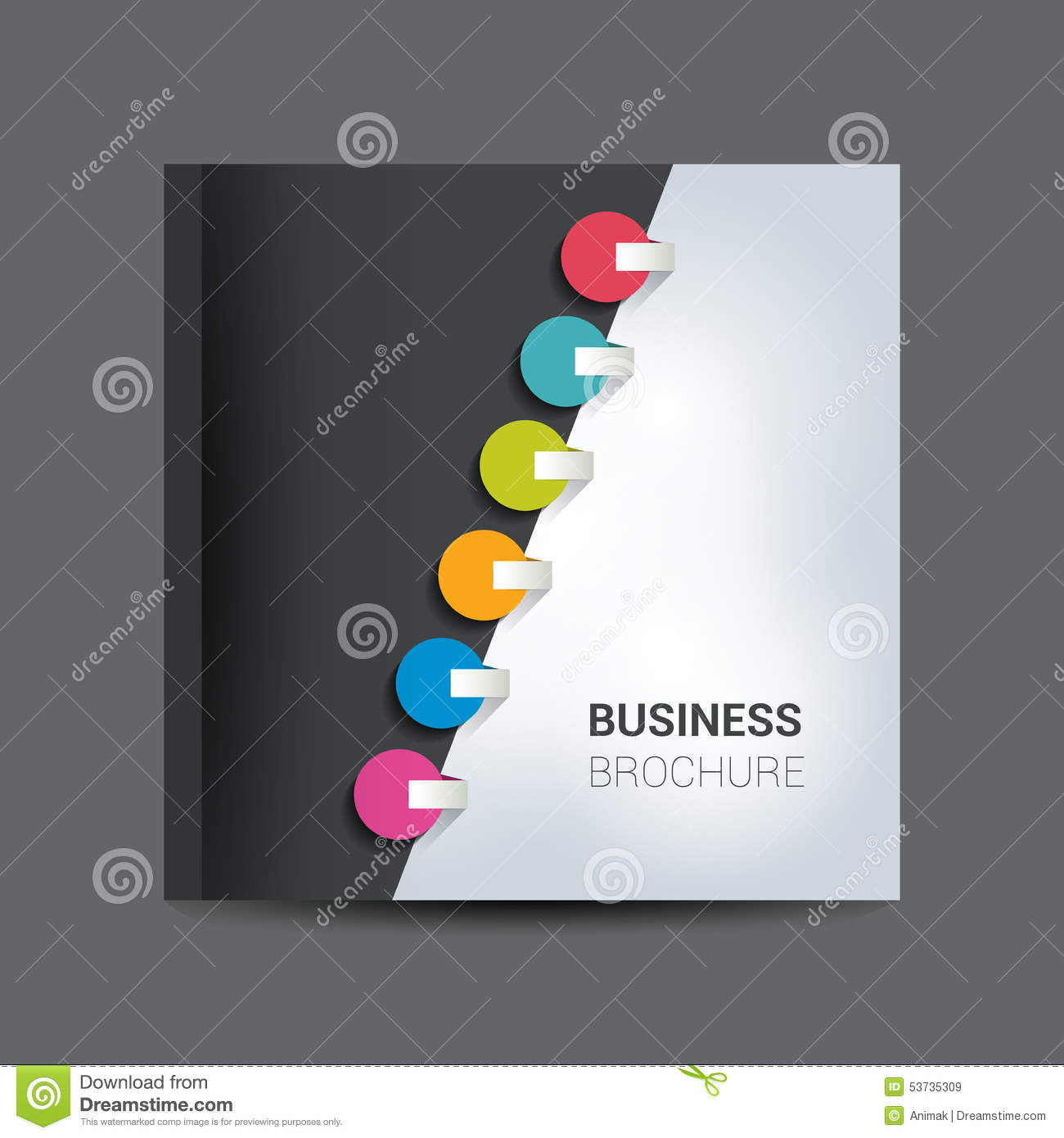 Brochure, Newsletter, Annual Report Layout Template. Abstract, Folder.