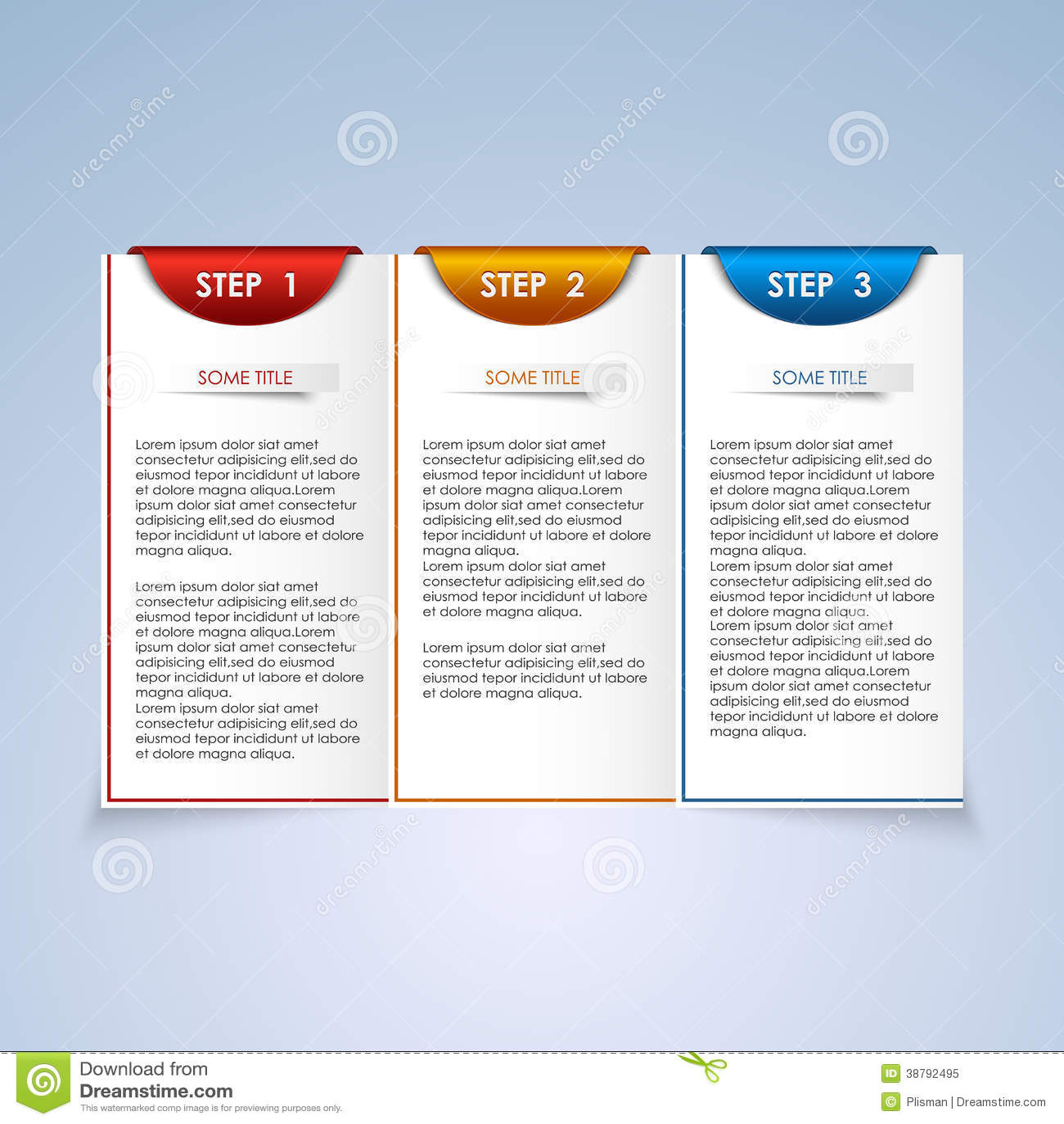 Brochure Step Progress Design Element Stock Vector - Image: 38792495