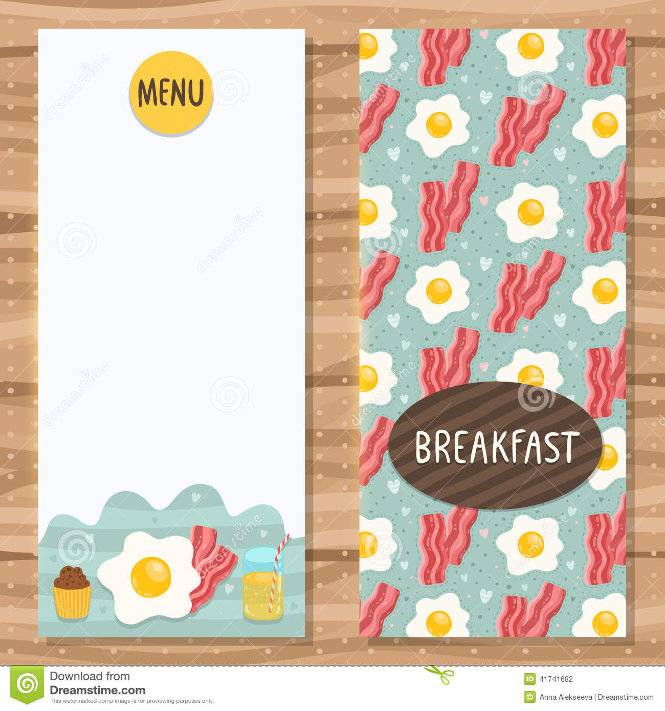 Brochure Template For Breakfast Menu  Breakfast Menu Template
