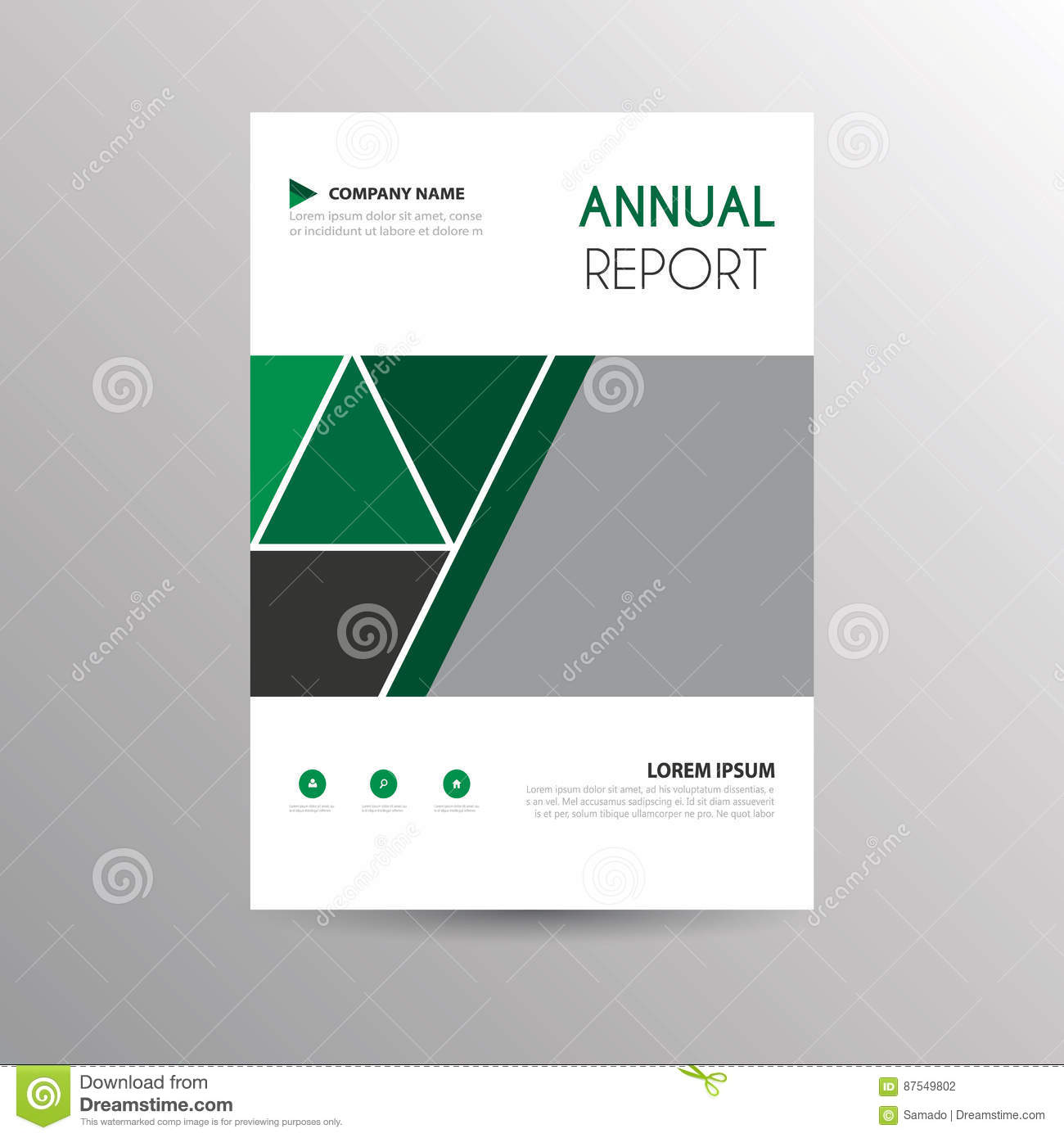 Brochure Template For Business Stock Vector Illustration Of