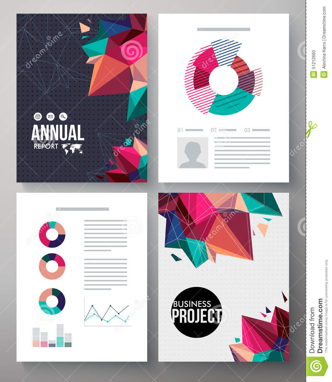 annual projection template - brochure template design for an annual project stock