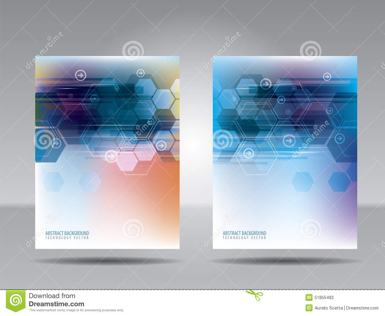 Brochure Template Flyer Card Or Banner Of Technology And Commu – Technology Brochure Template