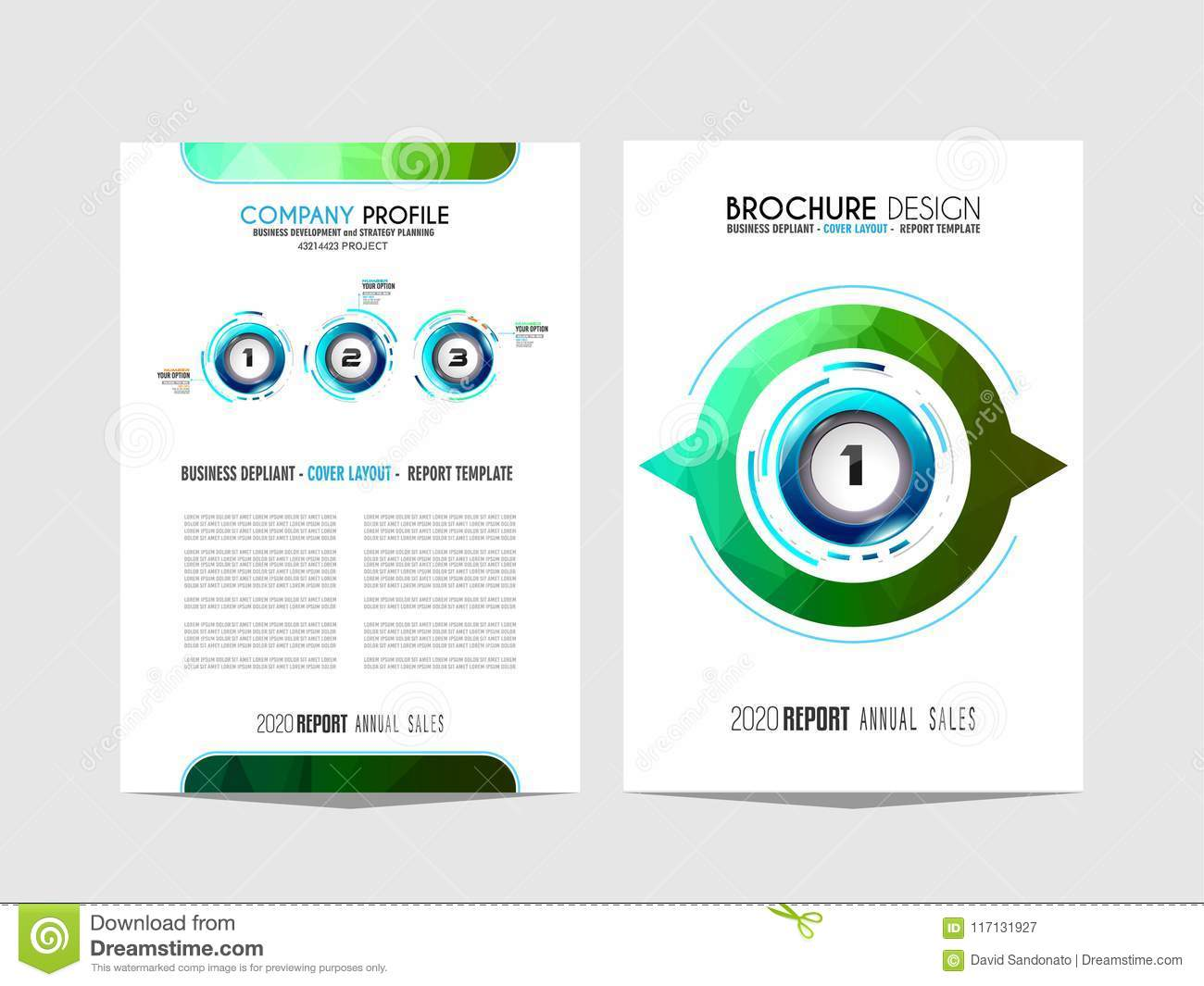 brochure template flyer design or depliant cover for business p