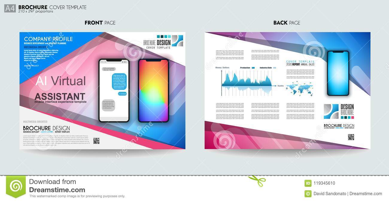 Brochure Layout Mobile Ai Artificial Intelligent Chat Bot