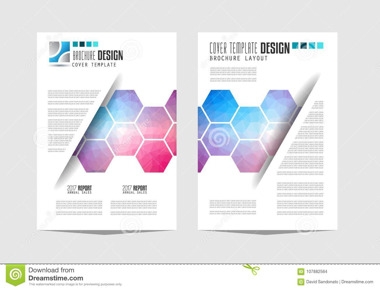 Brochure Template, Flyer Design Or Depliant Cover For Business ...