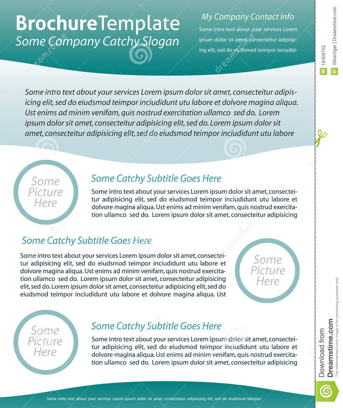 Brochure template for health care company stock vector for Health pamphlet template