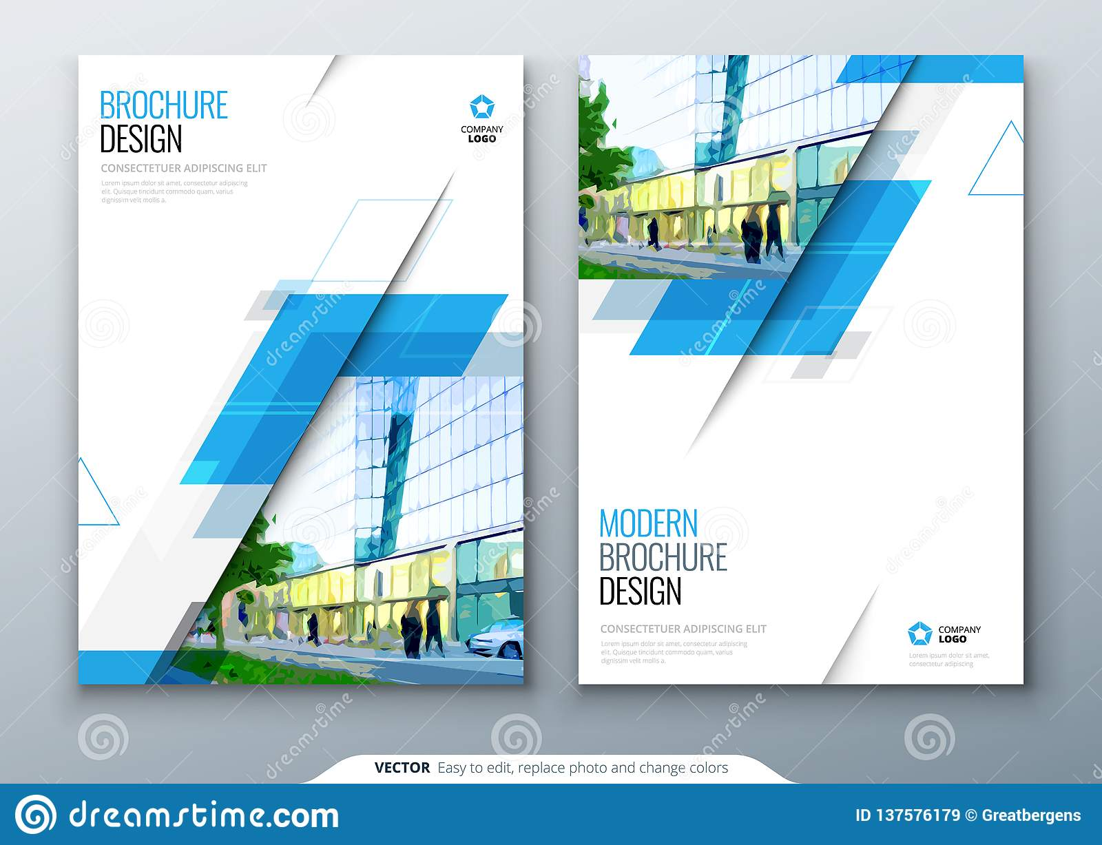 Brochure template layout design. Corporate business annual report, catalog, magazine, flyer mockup. Creative modern