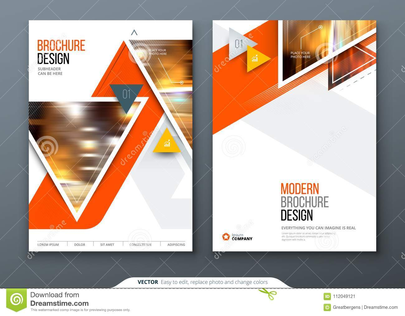 brochure template layout design corporate business annual report catalog magazine flyer mockup creative modern bank cover