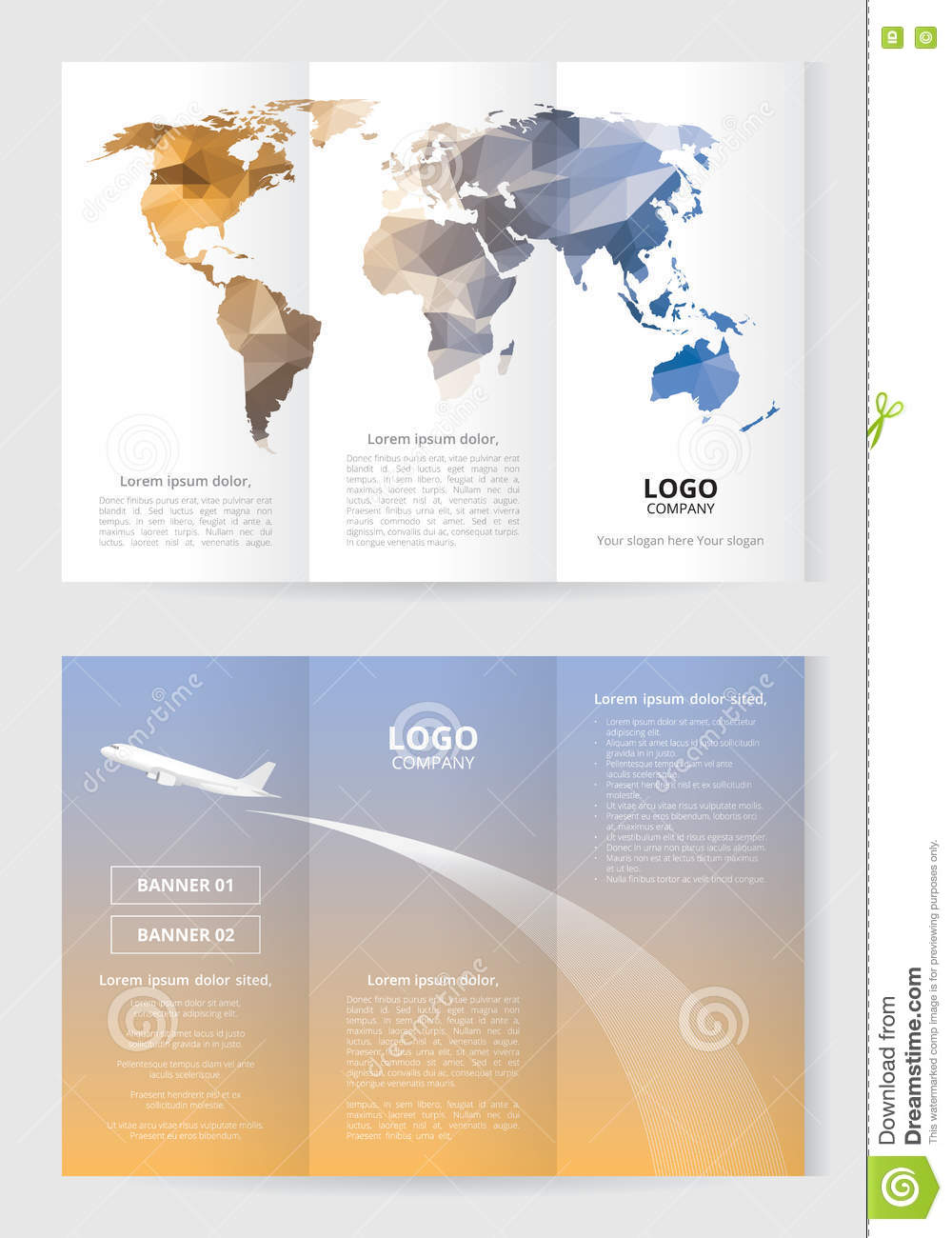 brochure template size - brochure template size a4 3 fold 2 side low polygon world