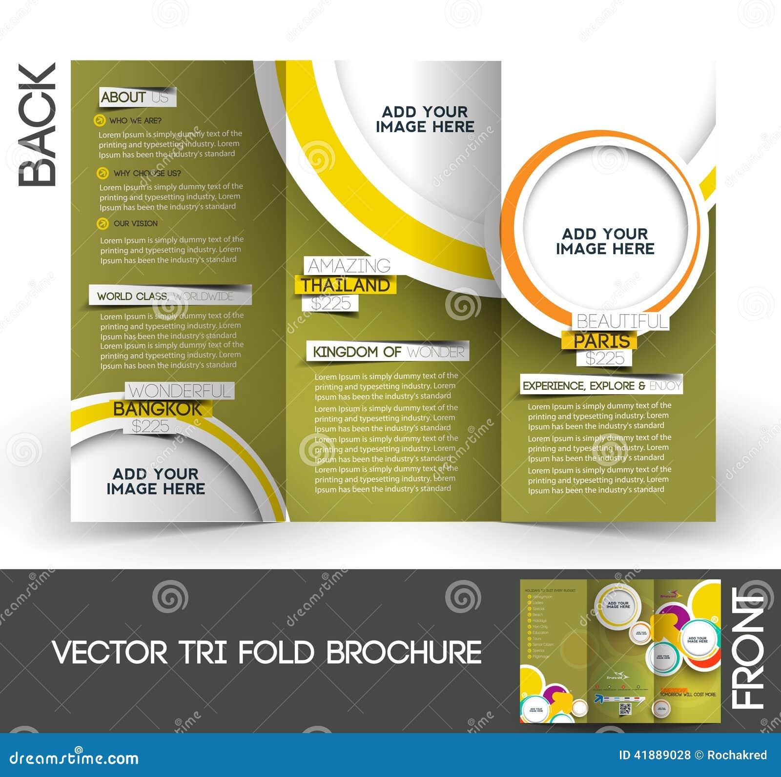Brochure triple de voyage