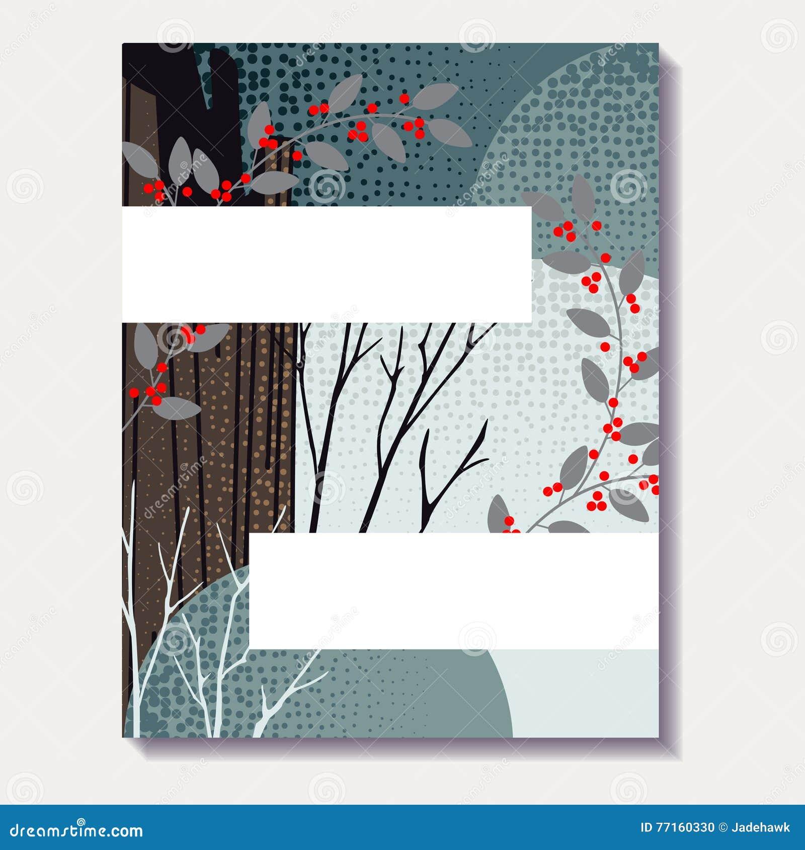 Brochure verte calme d automne