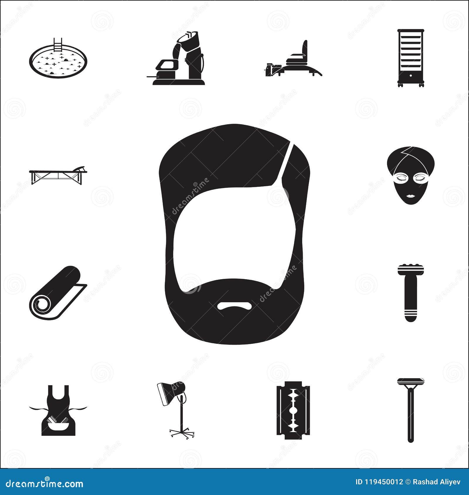 Brody ikona Szczegółowy set fryzjer męski ikony Premii ilości graficznego projekta znak Jeden inkasowe ikony dla stron internetow