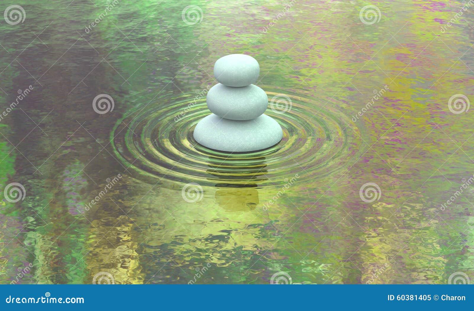 Brogujący kamienny jezioro spokoju wody widok