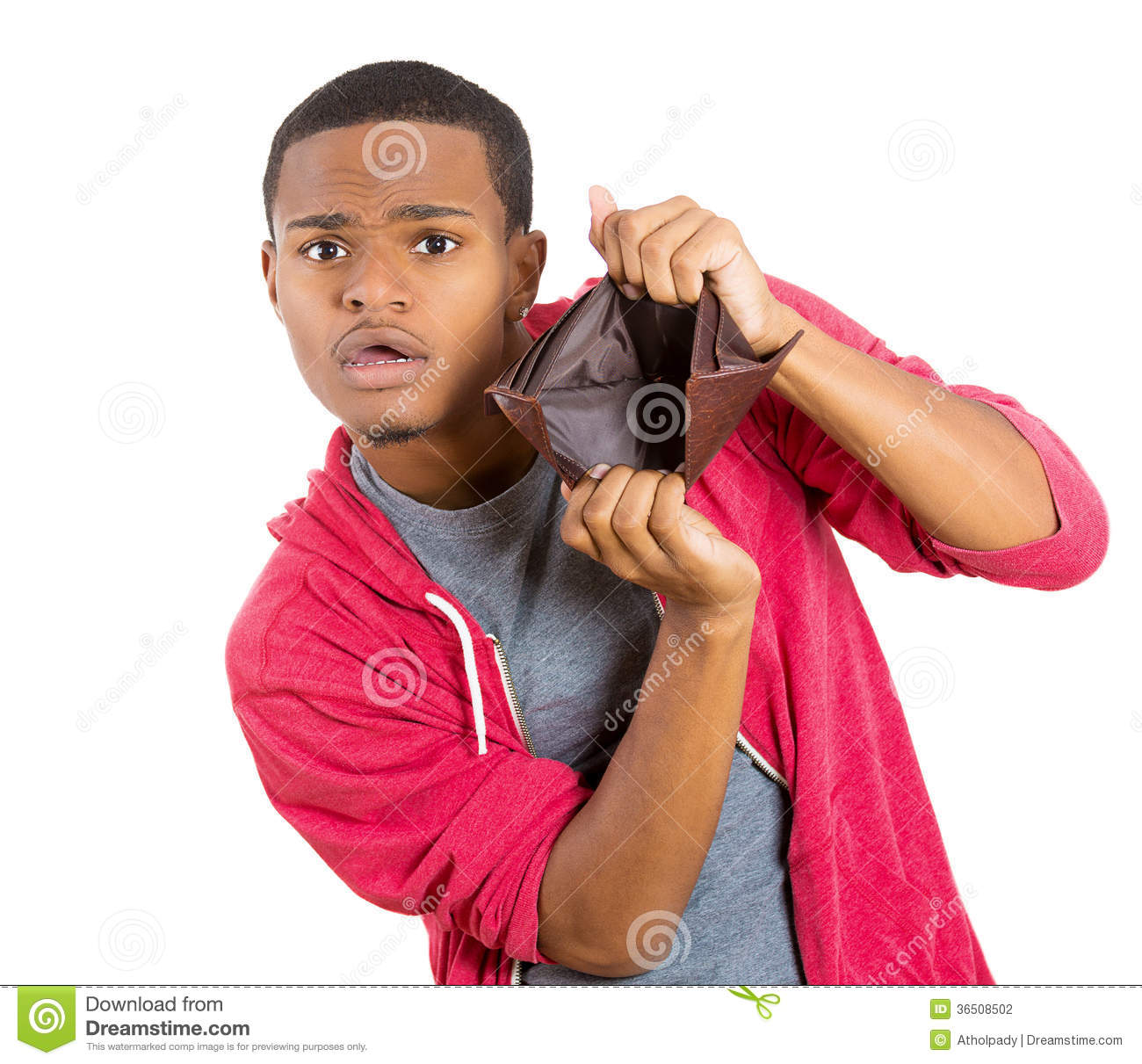 Download Broke Guy With Empty Wallet Stock Photo - Image of cash, irresponsible: 36508502