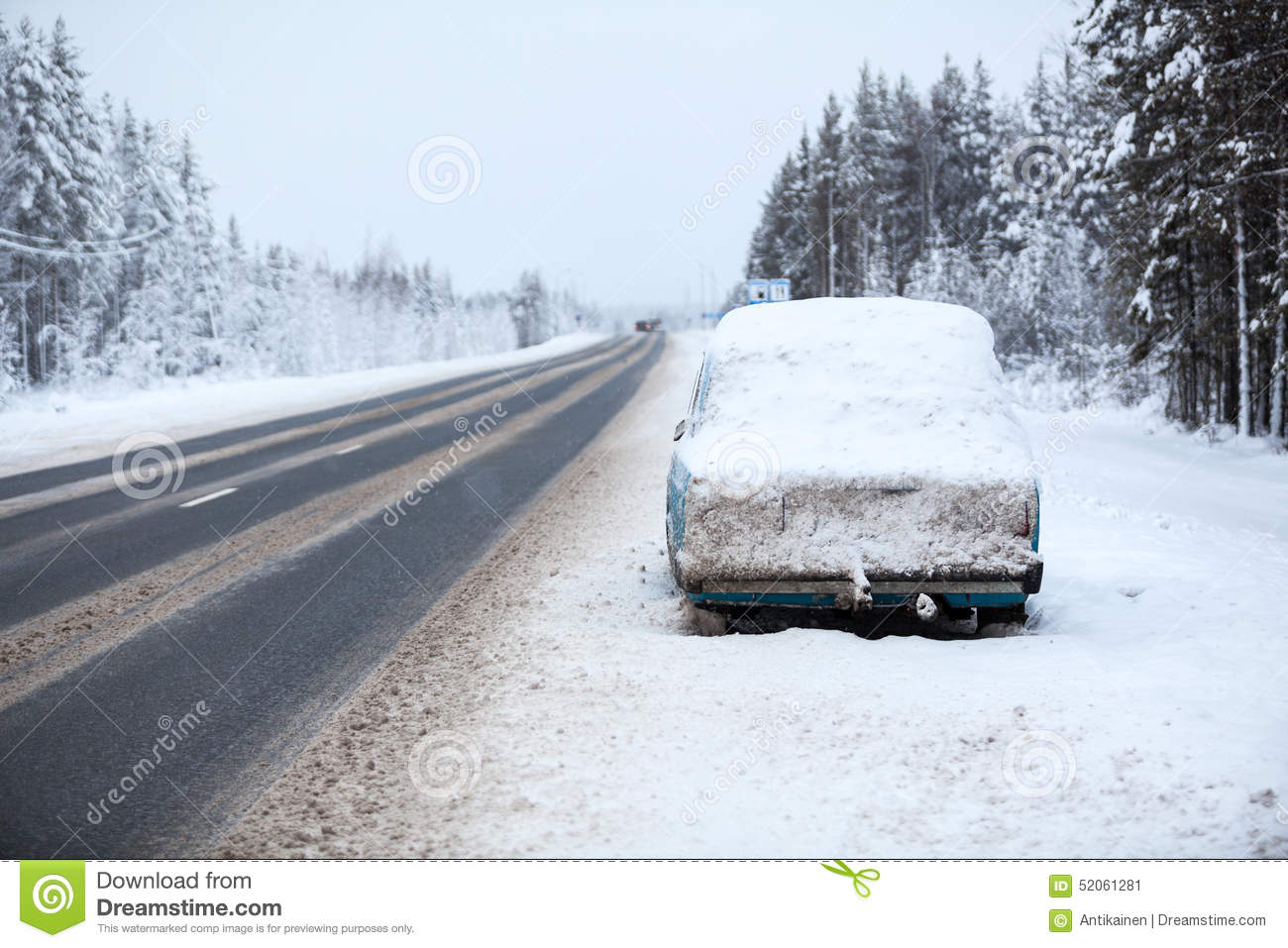 Snowfall In City Snowbound Parking Stock Photography
