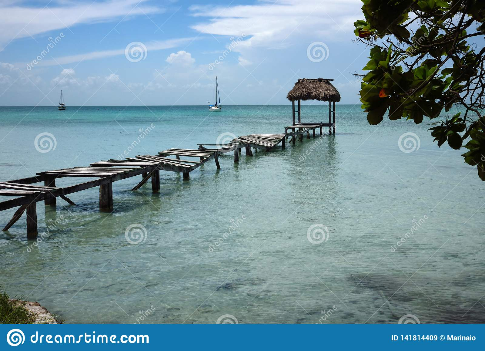 Sarteneja village in Belize.