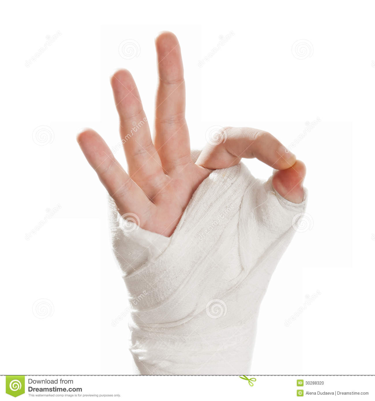 Finger and thumb cast on