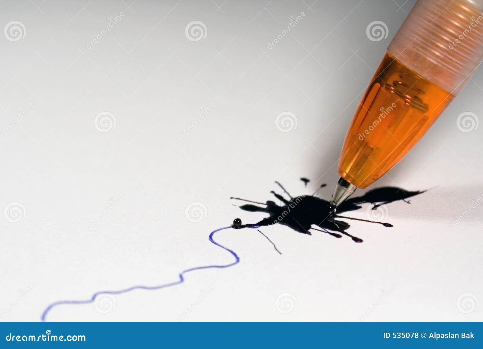 Broken Ballpoint Pen Stock Photo Image Of Write Stain