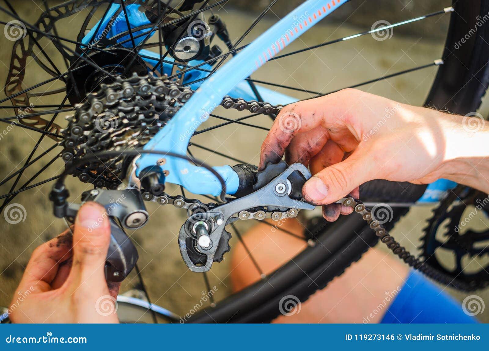 Broken Bicycle Rear Derailleur Stock Photo Image Of Breaking