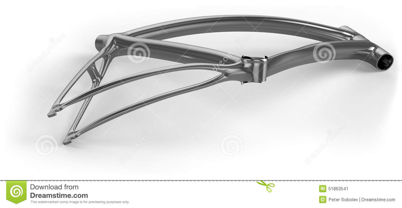 Broken bike frame stock illustration. Illustration of steel - 51863541