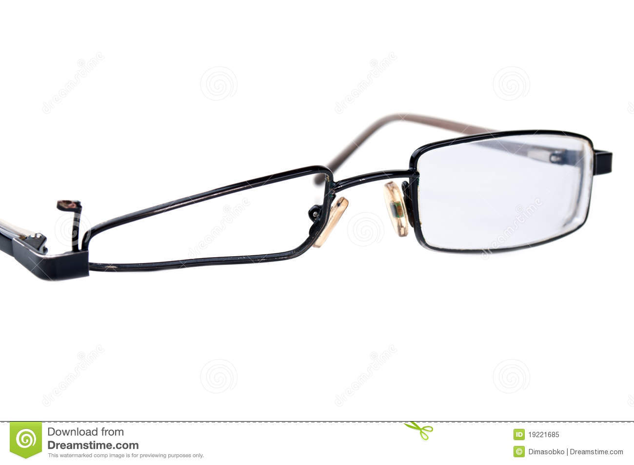 Broken Black Eyeglasses Royalty Free Stock Photo - Image ...