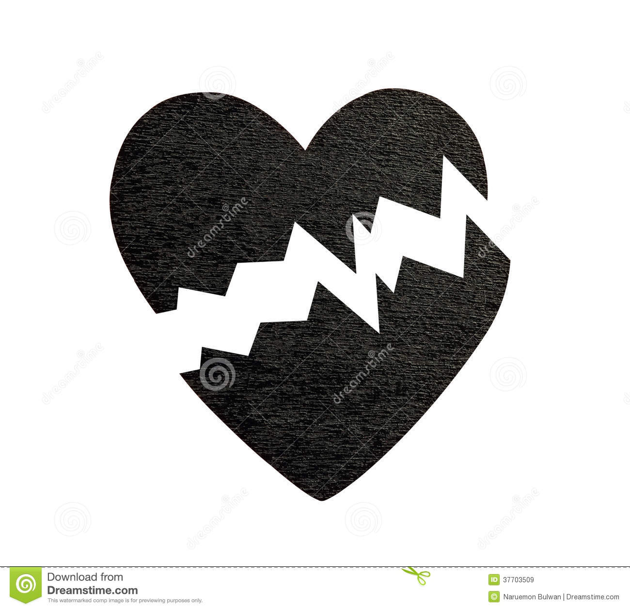 Broken Black Heart Royalty Free Stock Images - Image: 37703509