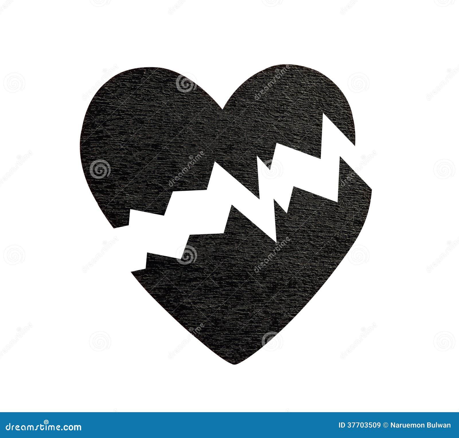Broken Black Heart Royalty Free Stock Images - Image: 37703509