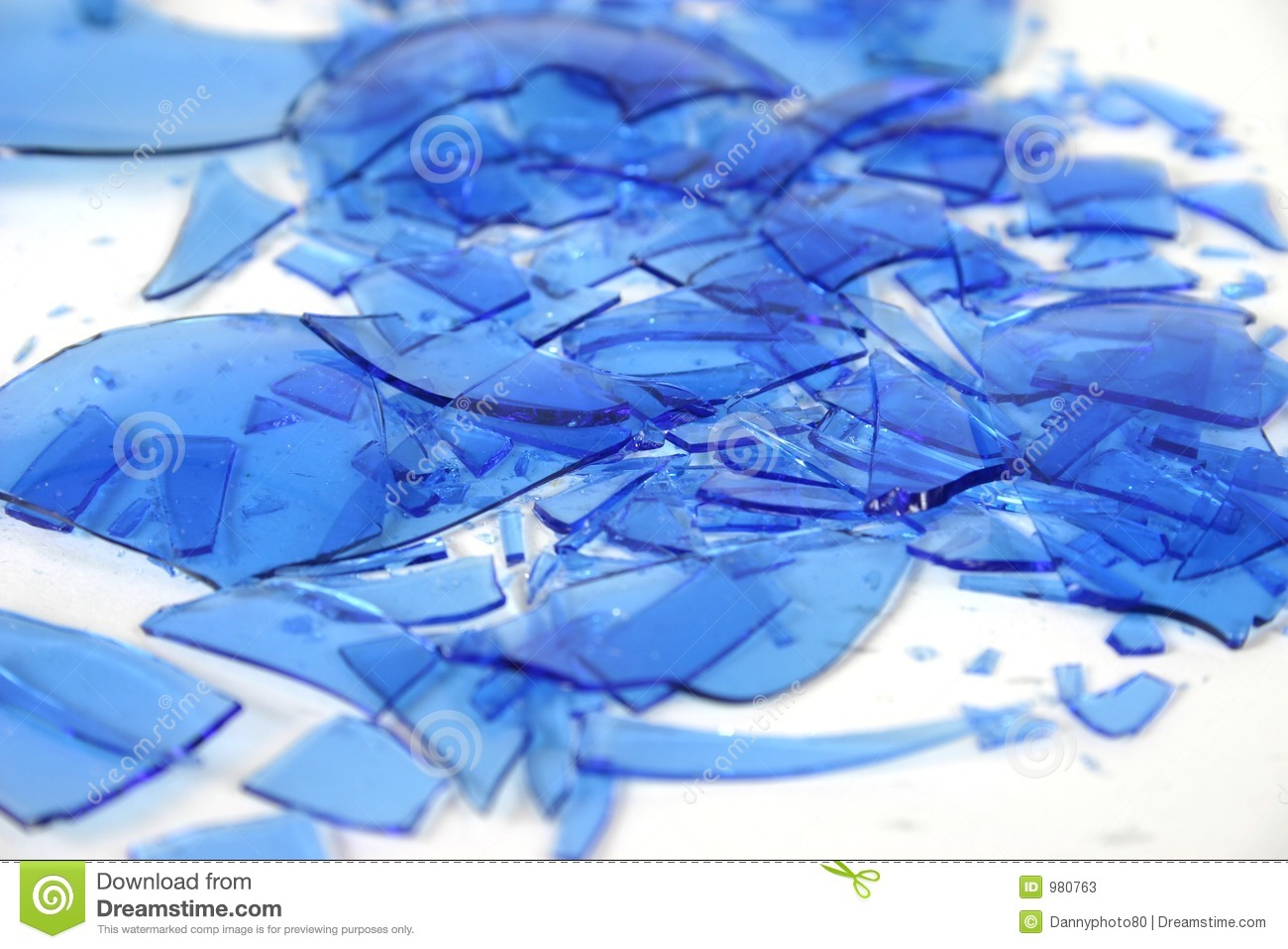 Broken Blue Glass 4 Stock Image Image Of Explode