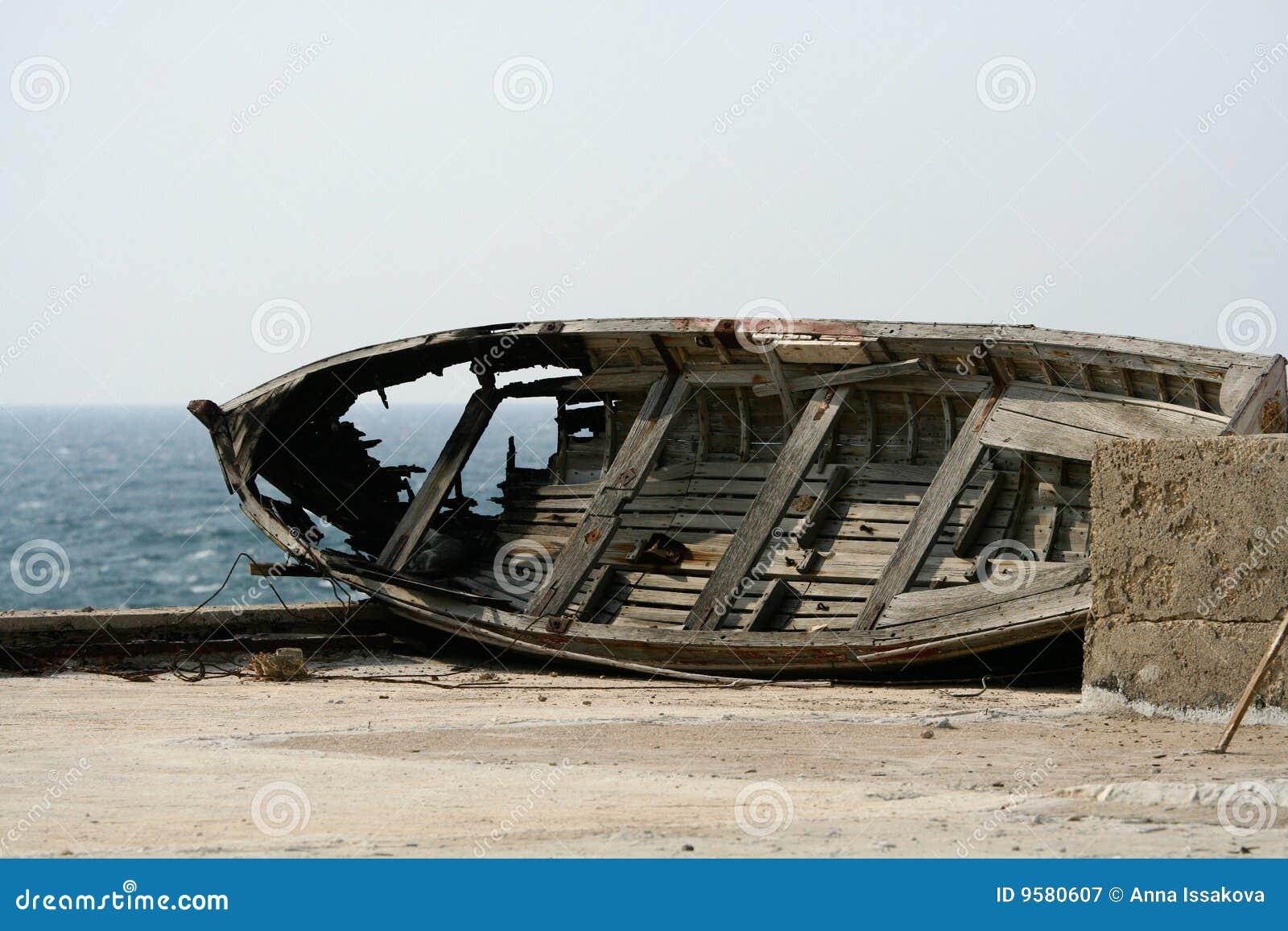Broken Boat Royalty Free Stock Photography - Image: 9580607
