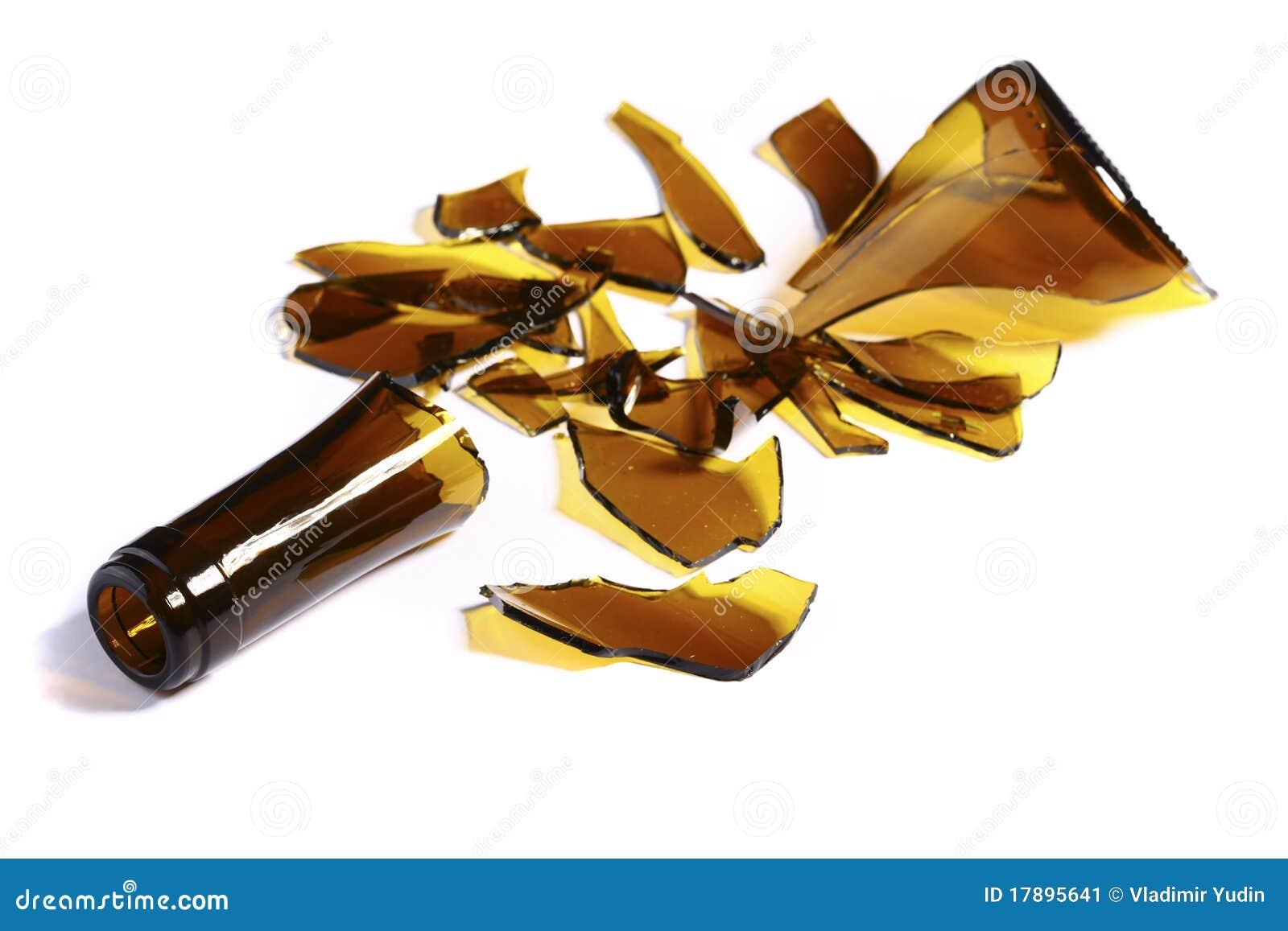 Broken Bottle Glass Stock Image - Image: 17895641