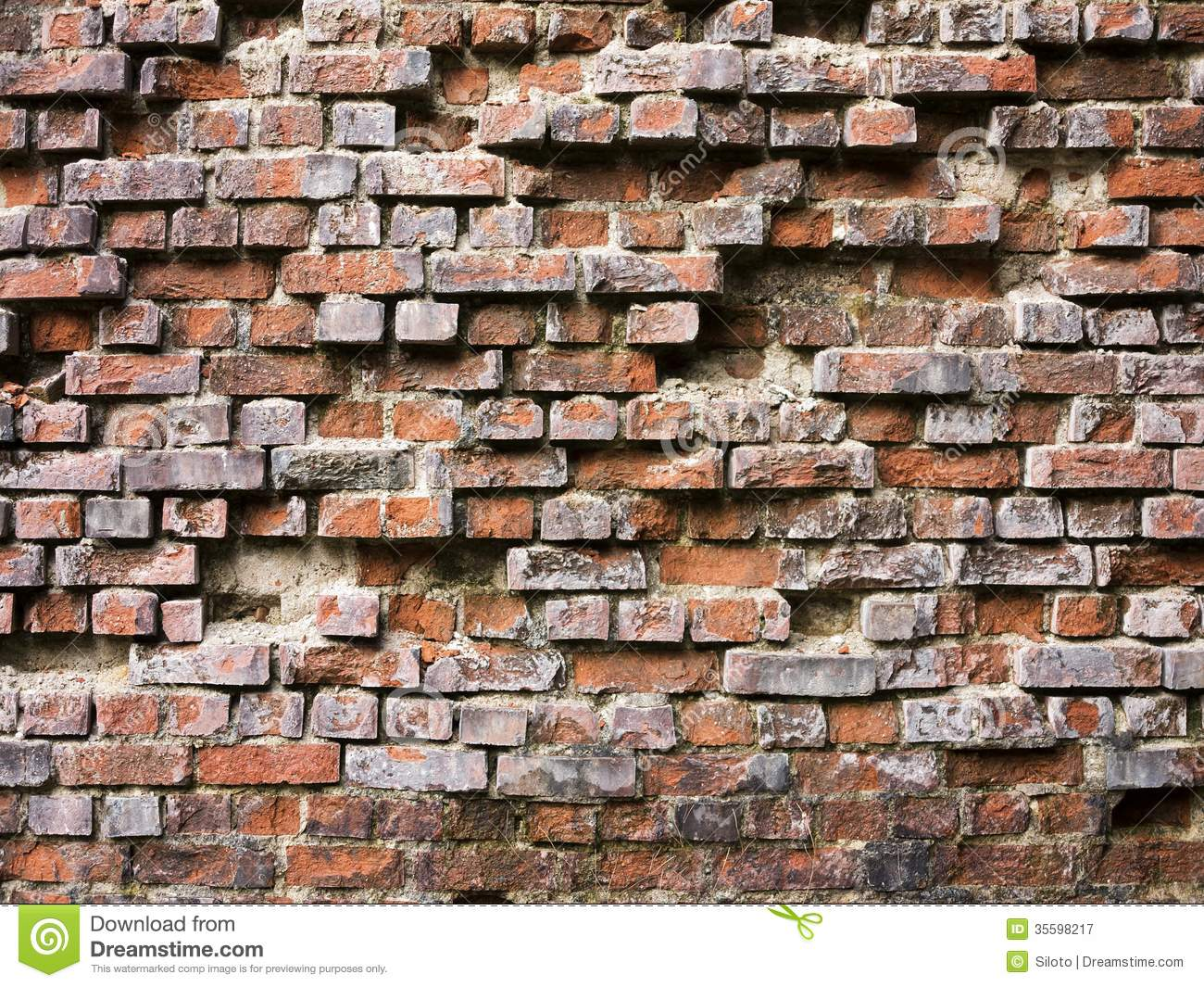 Cracked brick wall drawing brick wall - Brick Broken Damaged Old Wall