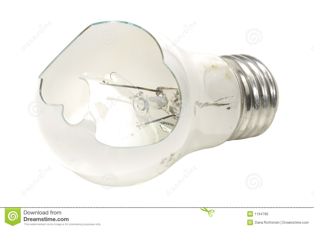 Broken Bulb Stock Photo - Image: 1194780