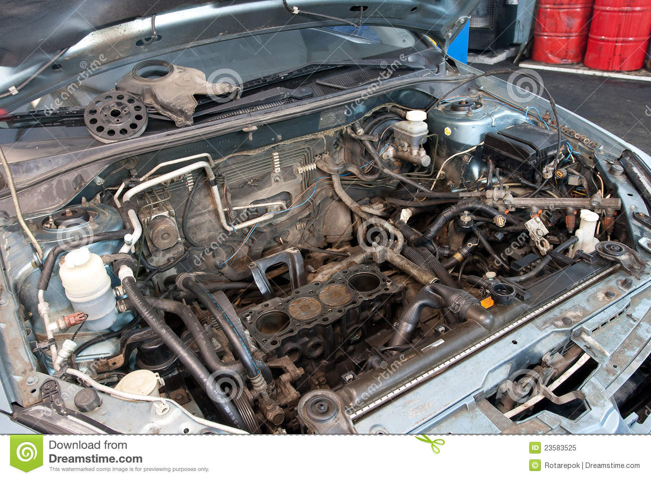 Broken Car Engine Royalty Free Stock Photo Image 23583525