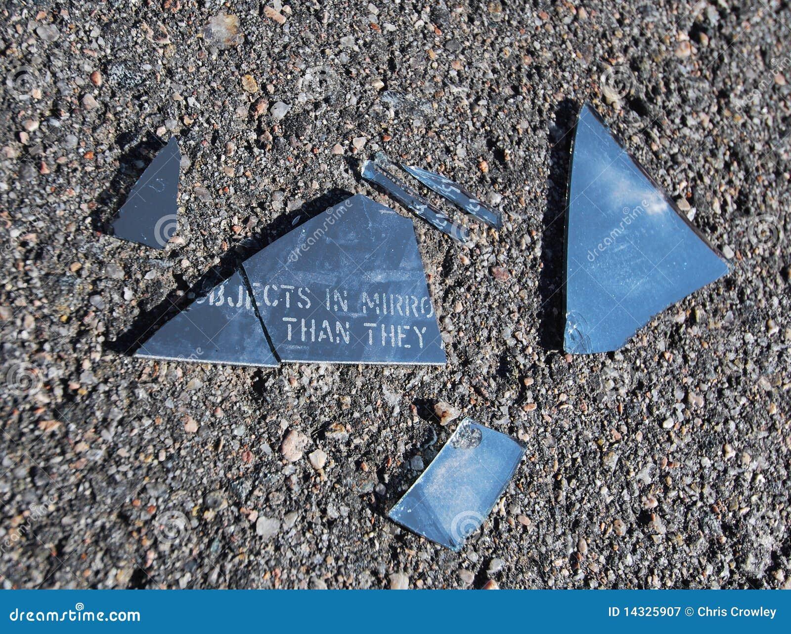 Broken Car Mirror stock image  Image of automobile, death - 14325907
