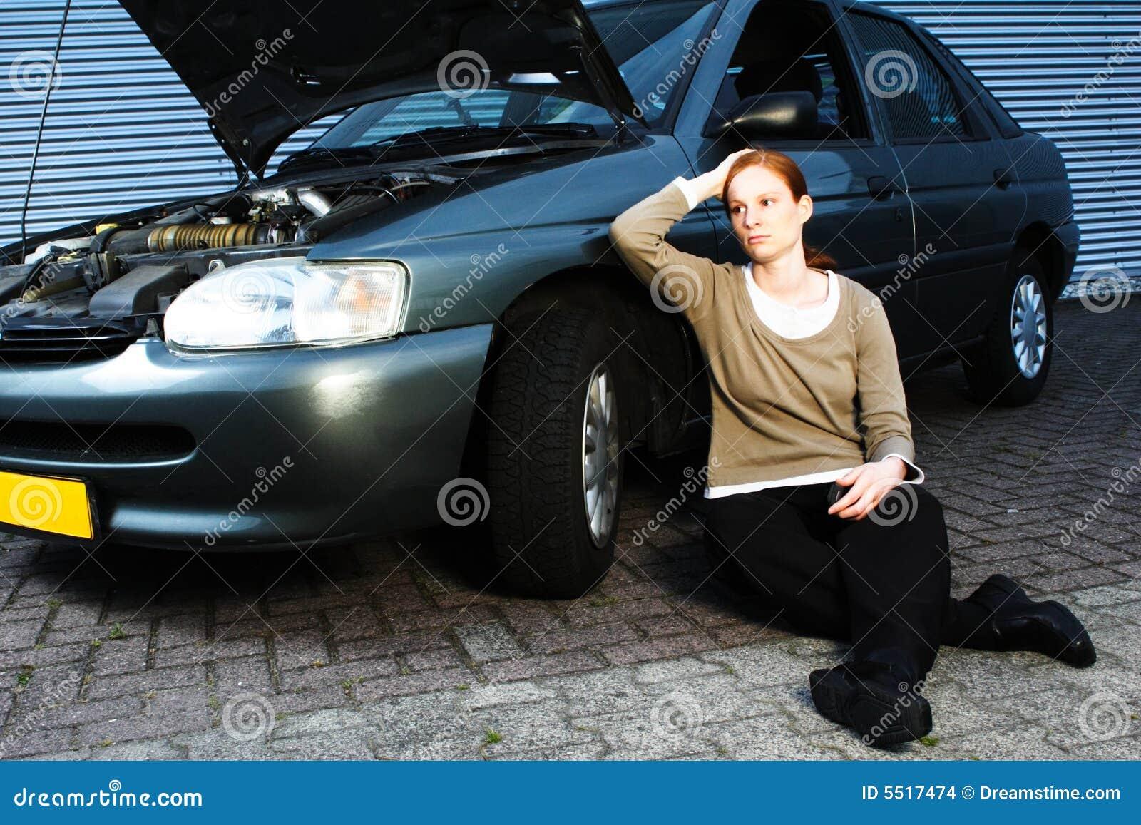 broken car and sad driver stock photo  image of vehicle