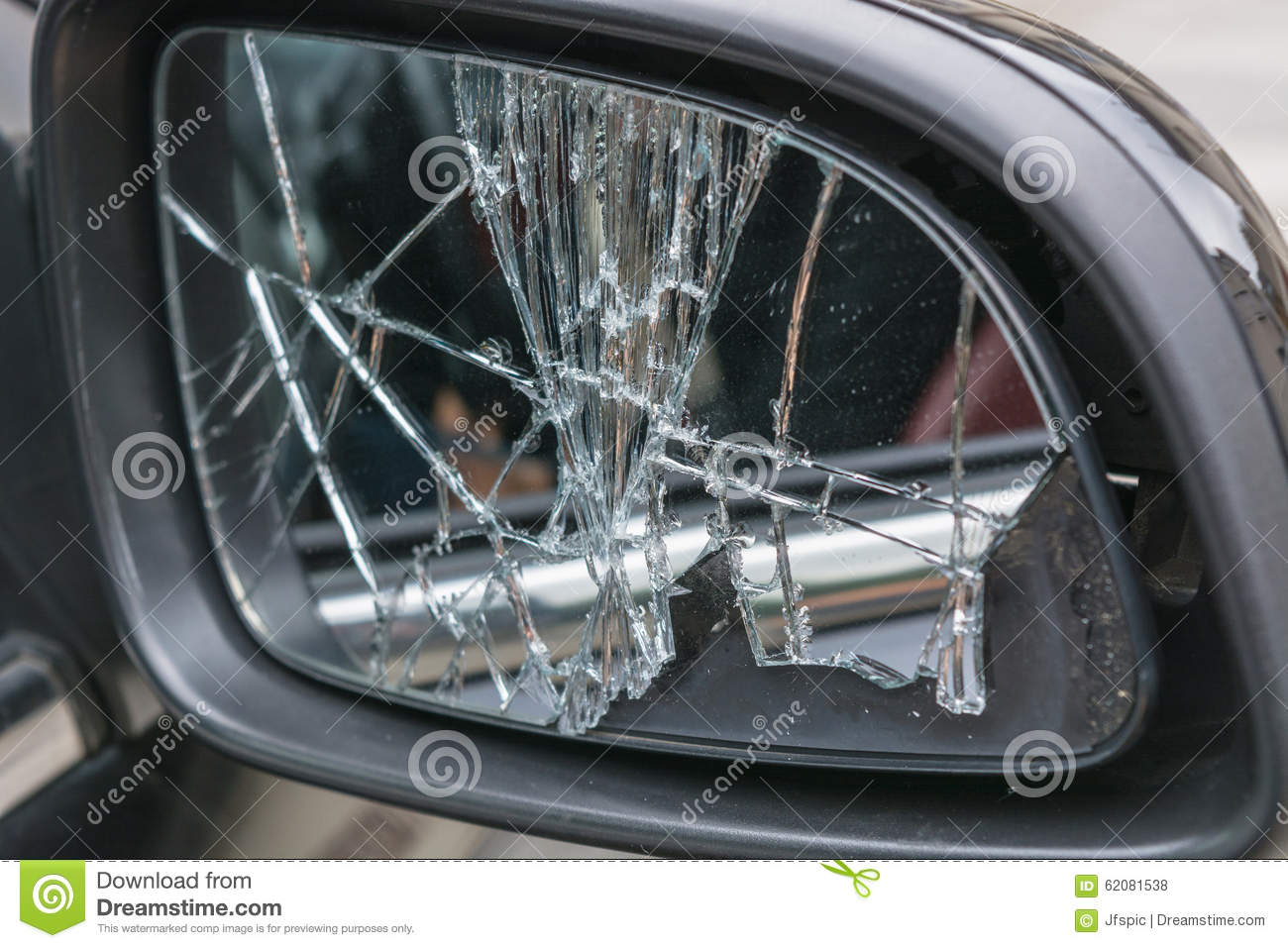 Broken Car Side Mirrors Stock Photo Image Of Black 62081538