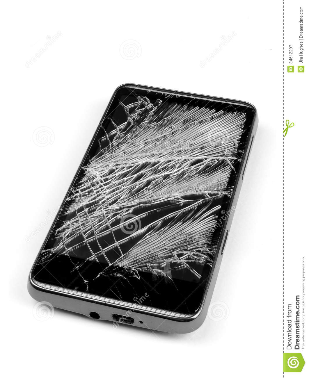 Broken Cell Phone Stock Image Image Of Phone Glass