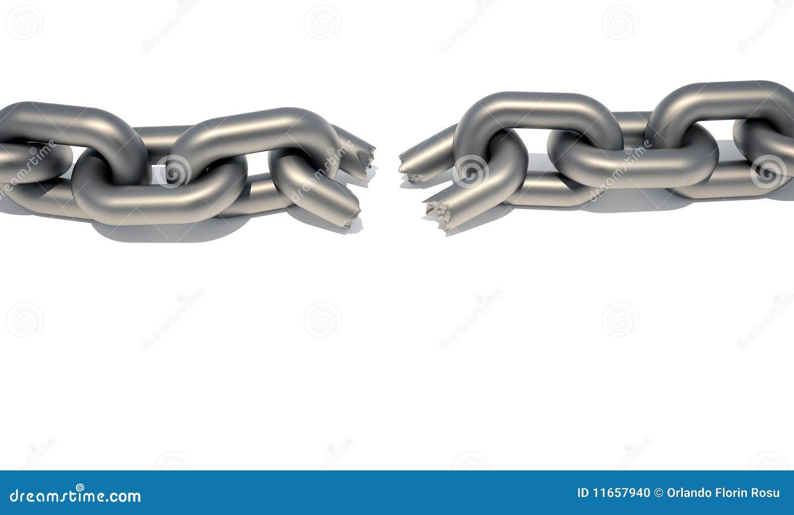 Broken Chain Stock Illustration Of Failure