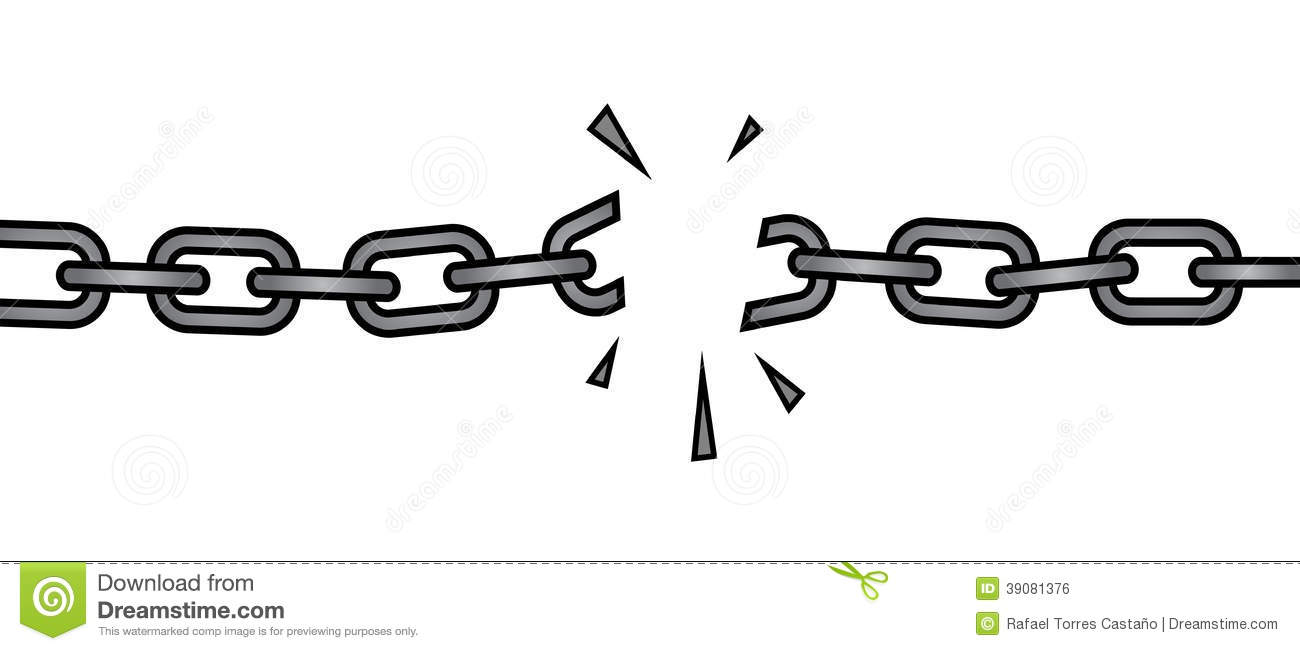 Broken Chain Stock Illustrations 1 255 Rh Dreamstime Com Chains Freedom Church Vector Free Download