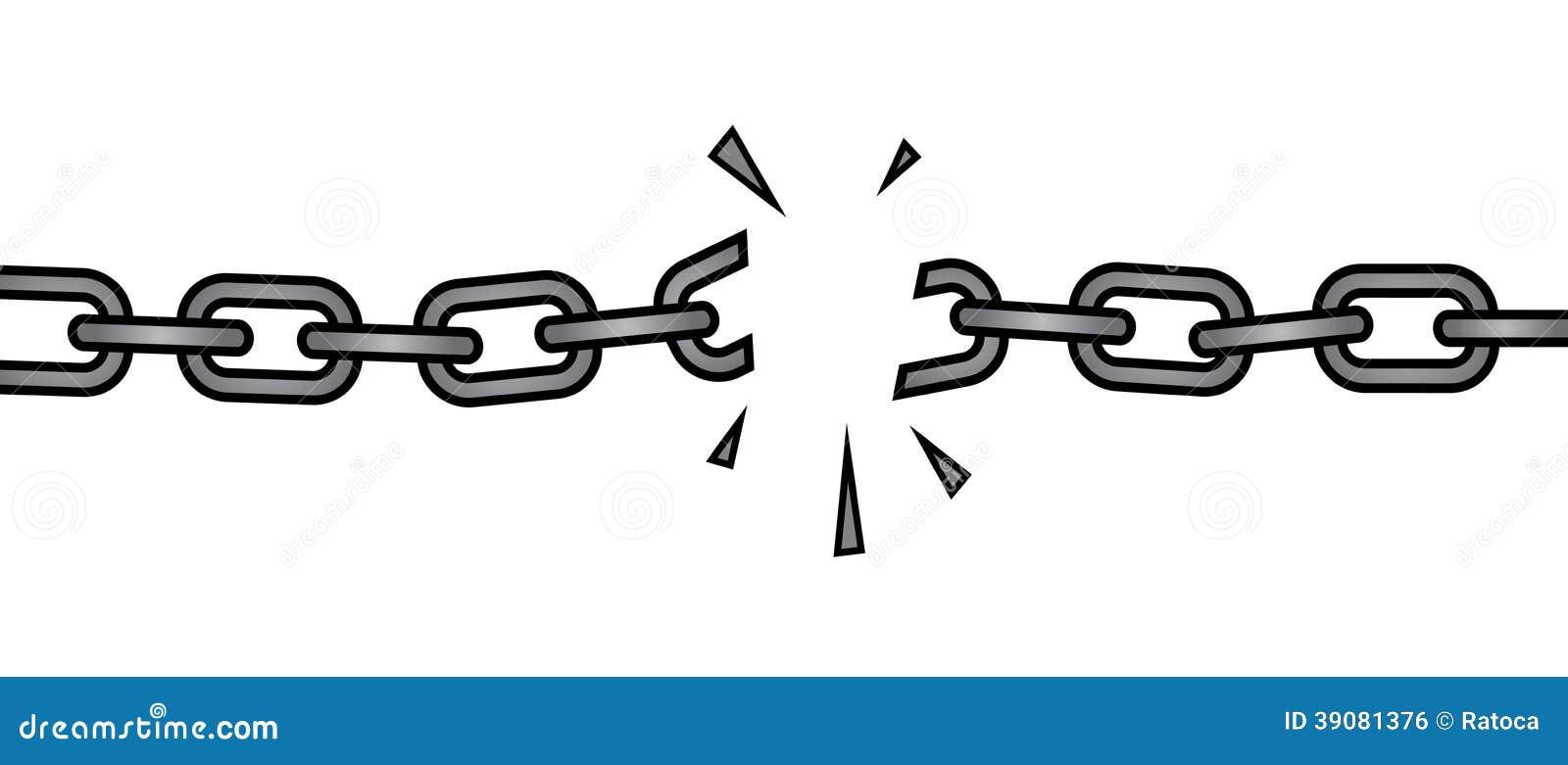 Broken Chain Stock Vector - Image: 39081376