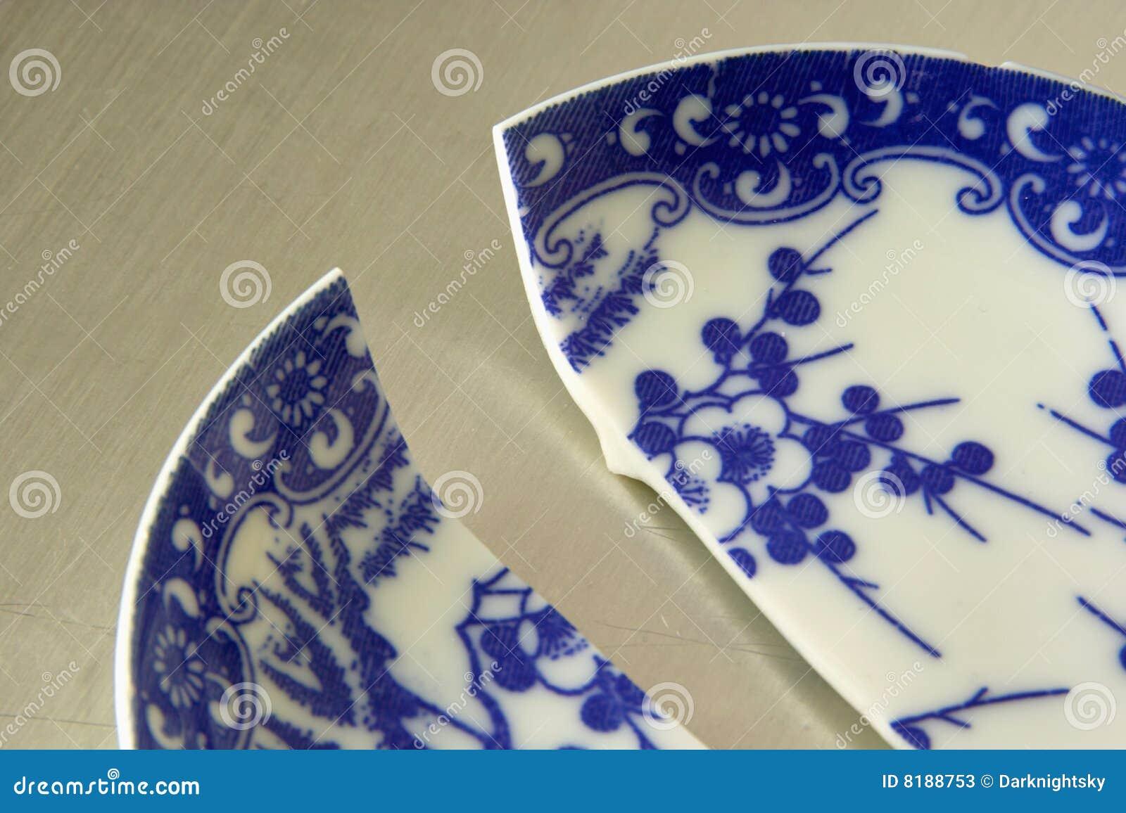 Broken China Stock Image Image Of Blue Hotel Half